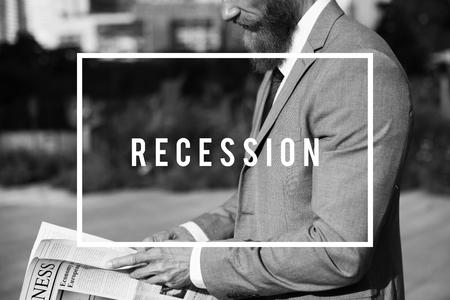 Depresión, quiebra, negocios, finanzas, dinero Foto de archivo - 78471093