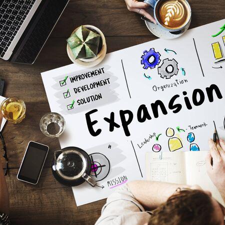 New Business Market Venture Expansion Growth Фото со стока