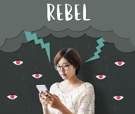 Bolt Rage Madness Rebel Revolution Resentment Stok Fotoğraf