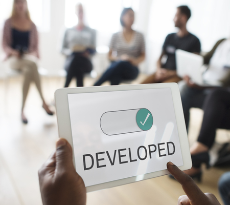 developed: Developed Change Improvement Success Solution Stock Photo