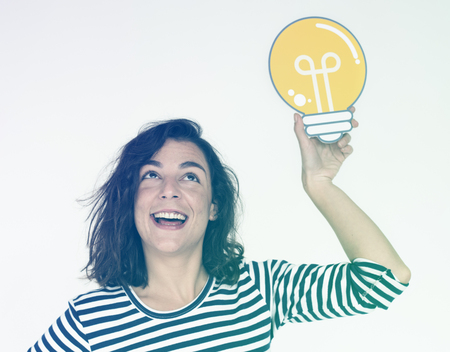 Woman Hand Show Light Bulb Ideas