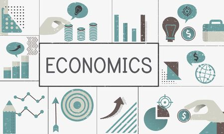 Illustratie van financiele zakelijke grafiek investering