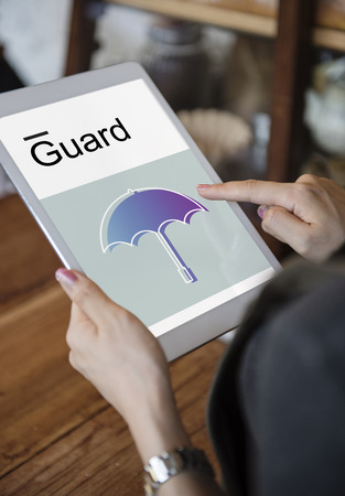 Warranty Security Safety Protection Guard Guarantee Umbrella Icons Symblos