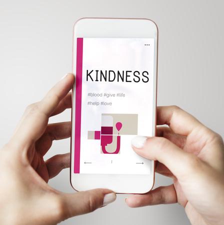Illustration de la campagne de don de sang sur le téléphone portable Banque d'images - 78403179