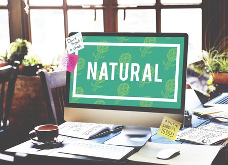 Natural Vitality Reviving Graphic Design Word Imagens