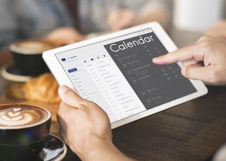 Grafiek van afspraak voor persoonlijke organisator op digitale tablet
