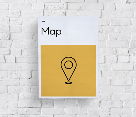 Bestemming Journey Location Map Route Sign Icon