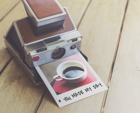 You Made My Day Instant Film Stock Photo