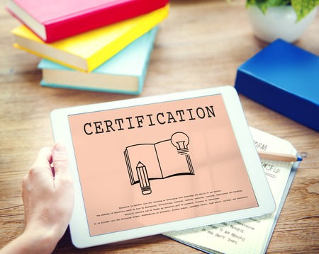 Certification Graduation Education Academy Concept Stock Photo