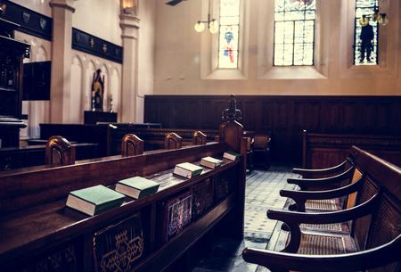 Church Interior Neat Bible