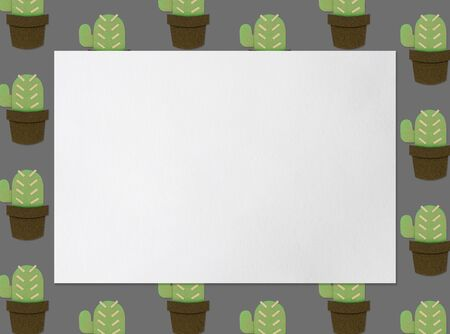 collection of cactus planting hobby illustration with copy space Stock fotó