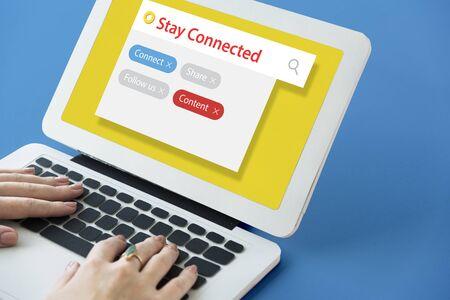 디지털 커뮤니케이션 소셜 미디어 그래픽 단어 아이콘