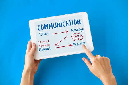 Communication Graph Networking Connection Internet Concept Фото со стока