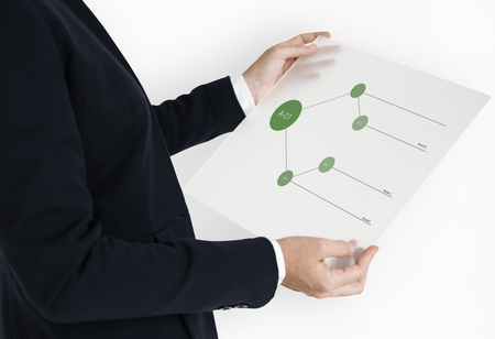 Tree Chart Graphic Information Icon Stock Photo