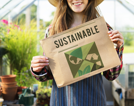 Save the planet is our responsibility. Stock Photo