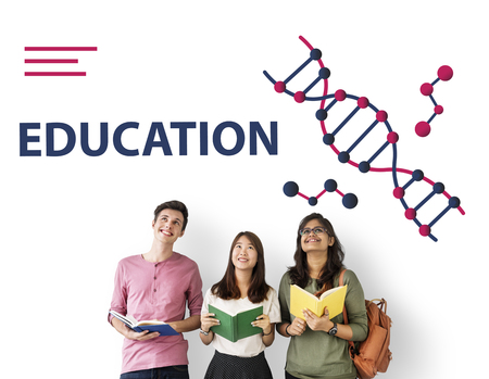 study group: Science DNA Research Development Human Stock Photo