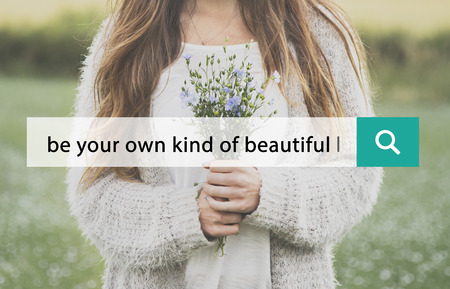 Be Your Own Kind Of Beautiful Phrase Words Banco de Imagens