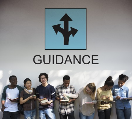 People with guidance concept Stock Photo