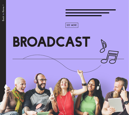Broadcast Audio Music Streaming Online Entertainment Media 版權商用圖片