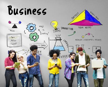 Bedrijfsstrategie actie succes prestatie schets Stockfoto