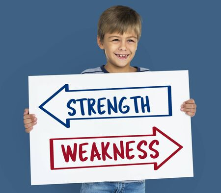 Arrow Opposite Choice Strength Weakness Icon Stock Photo - 78468502