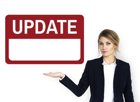 Update Latest New Banner Graphic Stock Photo