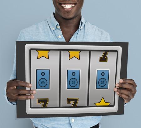 Slot Machine Game Music Symbols Stock Photo