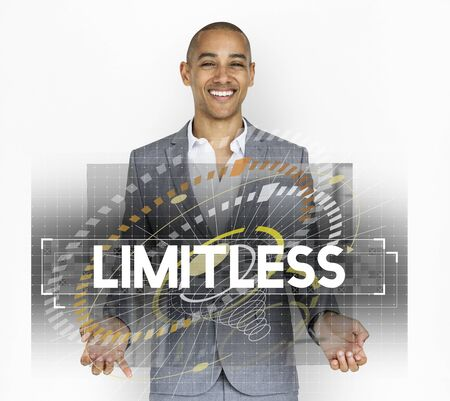 Dare to dream limitless motivation inspire to success graphic Stok Fotoğraf