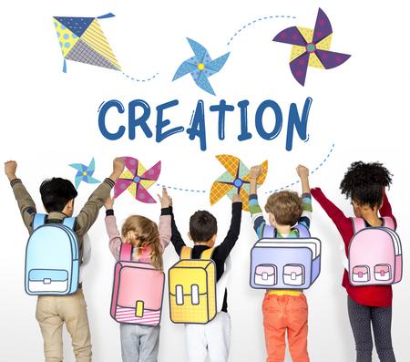 Kindheit Freizeit Hobby Phantasie Konzept Standard-Bild