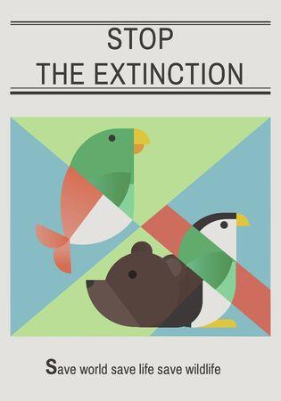 Save endangered animals icon graphic Фото со стока - 78474926