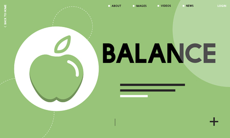 Website interface with balance concept Stok Fotoğraf