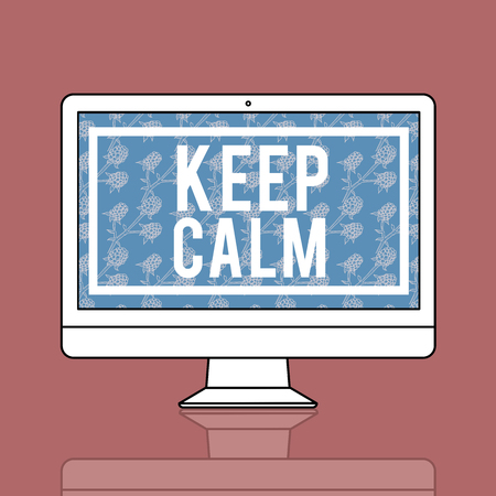 Keep Calm Stay Cool Soyez patient Serene Peaceful Banque d'images - 78475198