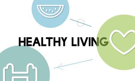 건강 웰빙 음식 심장 아이콘 그래픽 스톡 콘텐츠