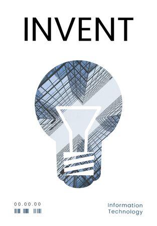 Graphic of creative ideas digital technology light bulb