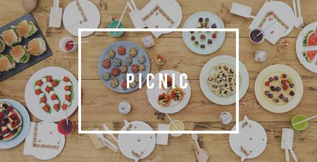 食べ物の単語ピクニック パーティー食欲食事