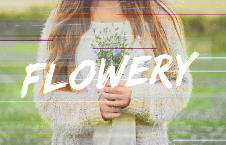 Flowery Bloom Flower Blossom Phrase Words