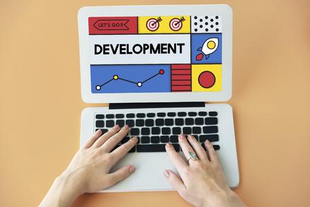 Development Research Strategy Success Word Stok Fotoğraf