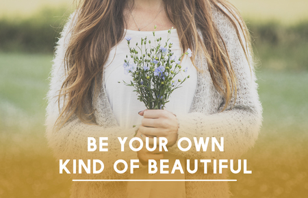 Be Your Own Kind Of Beautiful Phrase Words Stock Photo