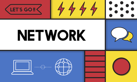 Modern technology with network concept