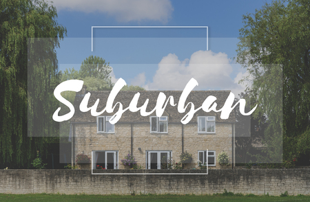 suburban neighborhood: Suburban Home House Residential Neighborhood