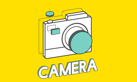 Digital camera illustration photography graphic Banco de Imagens