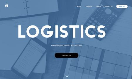 Website with logistics concept