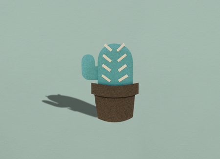 Illustration of cactus planting hobby lifestyle Stock fotó