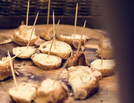 Testmonster van vers gebakken bakkerijbroodproducten
