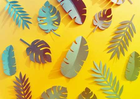 Tropical Handcrafted Papercraft Nature Petals Stock Photo - 78513815