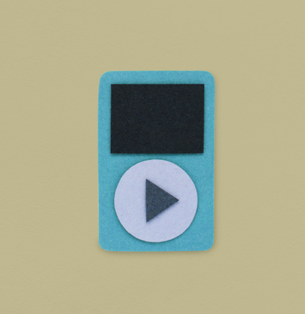 logo music: Digital Portable Music Player Play Icon