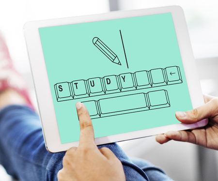 Illustration of insight education keyboard typing Stock Photo