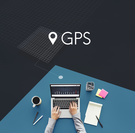 GPS location map travel graphic Stock Photo