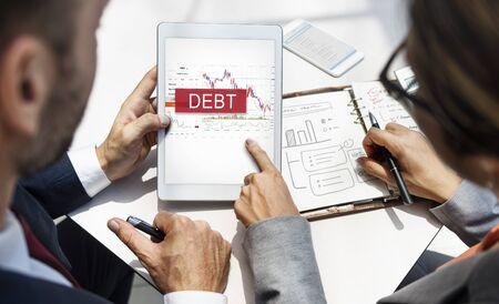 Debt Chart Graphic Diagram Concept Фото со стока - 78514478