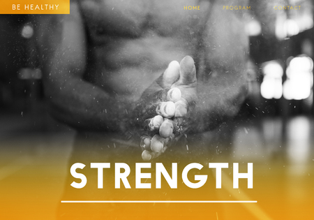 Strength concept with background